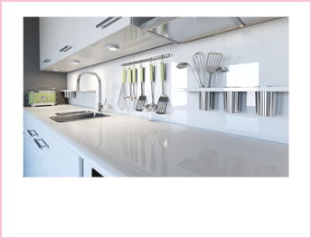 金属製品の多いキッチンのイメージ