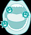 口内の雑菌イメージ